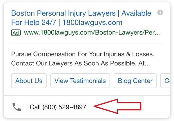 call extensions google ads